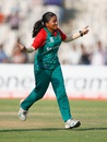 Nahida Akter celebrates after taking a wicket, Bangladesh v West Indies, Women's World T20, Group B, Chennai, March 20, 2016