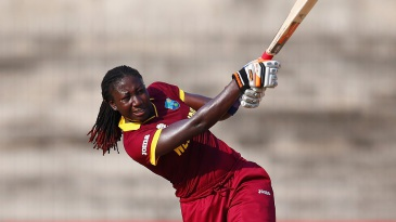 Stafanie Taylor swings to the leg side