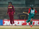 Deandra Dottin celebrates after taking the wicket of Ritu Moni, Bangladesh v West Indies, Women's World T20, Group B, Chennai, March 20, 2016