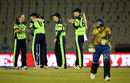Ireland Women celebrate the run-out of Dilani Manodara, Ireland v Sri Lanka, Women's World T20, Group A, Mohali, March 20, 2016