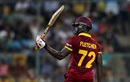 Andre Fletcher celebrates his half-century, Sri Lanka v West Indies, World T20 2016, Group 1, Bangalore, March 20, 2016