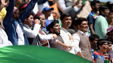 Afghanistan fans voice their support