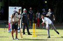 New Zealand players have a game with local children in Mohali at the ICC Cricket For Good and Team Swachh cricket clinic in partnership with UNICEF, March 21, 2016