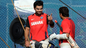 Virat Kohli talks to Sachin Tendulkar
