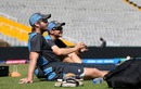 Kane Williamson and Mike Hesson look on during New Zealand practice, Mohali, March 21, 2016