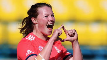 Anya Shrubsole brings out the
