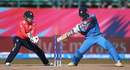 Shikha Pandey shapes to cut the ball, India v England, Group B, Women's World T20, Dharamsala, March 22, 2016
