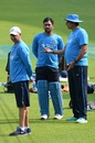 MS Dhoni hears out team director Ravi Shastri , Bangalore, March 22, 2016