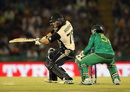 Corey Anderson plays a cut, New Zealand v Pakistan, World T20 2016, Group 2, Mohali, March 22, 2016