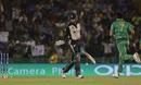Mohammad Sami celebrates after removing Martin Guptill, New Zealand v Pakistan, World T20 2016, Group 2, Mohali, March 22, 2016