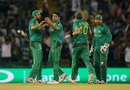 Mohammad Sami celebrates a wicket with his team-mates, New Zealand v Pakistan, World T20 2016, Group 2, Mohali, March 22, 2016