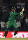 Shoaib Malik plays a cut, New Zealand v Pakistan, World T20 2016, Group 2, Mohali, March 22, 2016