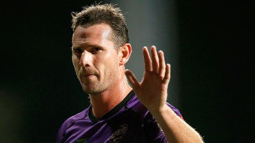 Shaun Tait acknowledges the crowd