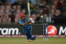 Shafiqullah hits into the leg side, Afghanistan v England, World T20 2016, Group 1, Delhi, March 23, 2016