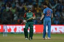 Mushfiqur Rahim is dejected after being dismissed, India v Bangladesh, World T20 2016, Group 2, Bangalore, March 23, 2016