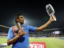 R Ashwin takes a selfie with his Man-of-the-Match trophy, India v Bangladesh, World T20 2016, Group B, Bangalore, March 23, 2016