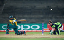 Dinesha Devnarain sweeps powerfully, Ireland v South Africa, Women's World T20 2016, Group A, Chennai, March 23, 2016