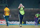 Kim Garth is a picture of frustration, Ireland v South Africa, Women's World T20 2016, Group A, Chennai, March 23, 2016