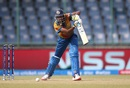 Yasoda Mendis opens the face of her bat as she tries to guide one to the off side, Australia v Sri Lanka, Women's World T20 2016, Group A, Delhi, March 24, 2016