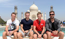 Jos Buttler, David Willey, Joe Root and Liam Plunkett visit the Taj Mahal, Agra, March 24, 2016