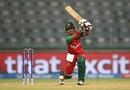 Fargana Hoque drives the ball, Bangladesh v Pakistan, Women's World T20 2016, Group B, Delhi, March 24, 2016
