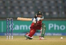 Sharmin Akhter sweeps the ball, Bangladesh v Pakistan, Women's World T20 2016, Group B, Delhi, March 24, 2016