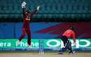 Merissa Aguilleira exults as Danielle Wyatt is bowled, England v West Indies, Women's World T20, Group B, March 24, 2016