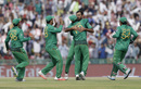 Wahab Riaz is congratulated after dismissing Usman Khawaja, Australia v Pakistan, World T20 2016, Group 2, Mohali, March 25, 2016