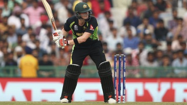 Steven Smith shapes up to play the ball into the leg side
