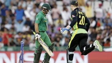 Khalid Latif was bowled for 46
