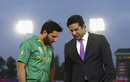 Shahid Afridi has chat with Wasim Akram after Pakistan's loss, Australia v Pakistan, World T20 2016, Group 2, Mohali, March 25, 2016