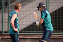 Joe Root and Paul Collingwood have a chat during a net session, Delhi, March 25, 2016