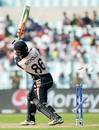 Henry Nicholls loses his off stump, Bangladesh v New Zealand, World T20 2016, Group 2, Kolkata, March 26, 2016