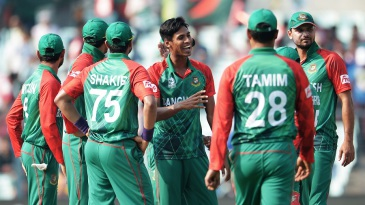 Mustafizur Rahman is pleased after striking early