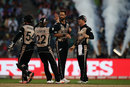 Grant Elliott celebrates a wicket with his team-mates, Bangladesh v New Zealand, World T20 2016, Group 2, Kolkata, March 26, 2016