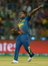 Rangana Herath celebrates after dismissing Alex Hales, England v Sri Lanka, World T20 2016, Group 1, Delhi, March 26, 2016