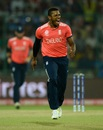 Chris Jordan is pumped after dismissing Dinesh Chandimal, England v Sri Lanka, World T20 2016, Group 1, Delhi, March 26, 2016