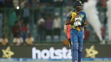 Angelo Mathews is disappointed after Sri Lanka's loss