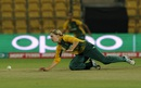 Dane van Niekerk dives as she tries to stop the ball, New Zealand v South Africa, Women's World T20 2016, Group A, Bangalore, March 26, 2016