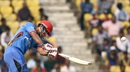 Najibullah Zadran made an unbeaten 48, Afghanistan v West Indies, World T20 2016, Group 1, Nagpur, March 27, 2016