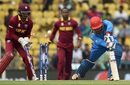 Usman Ghani was cleaned up for 4, Afghanistan v West Indies, World T20 2016, Group 1, Nagpur, March 27, 2016
