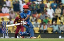 Najibullah Zadran shapes up to play a reverse sweep, Afghanistan v West Indies, World T20 2016, Group 1, Nagpur, March 27, 2016