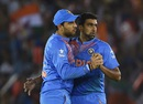 Yuvraj Singh and R Ashwin demonstrate the spinners' waltz, Australia v India, World T20 2016, Group 2, Mohali, March 27, 2016