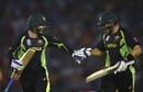 Peter Nevill and Shane Watson touch the gloves while leaving the field after Australia's innings, Australia v India, World T20 2016, Group 2, Mohali, March 27, 2016
