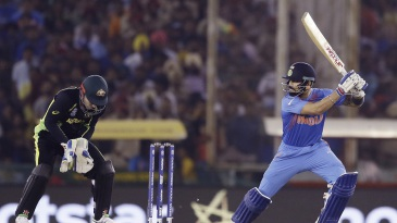 Virat Kohli plays the cut shot