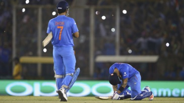 Virat Kohli is floored with emotion after sealing a famous win for India