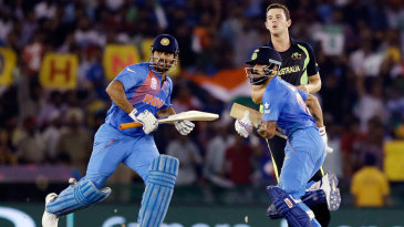 MS Dhoni and Virat Kohli ran like the wind in Mohali