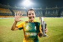 Sune Luus with her Player-of-the-Match award, Ireland v South Africa, Women's World T20 2016, Group A, Chennai, March 23, 2016