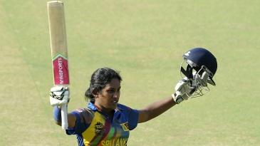 Chamari Atapattu celebrates her fifty