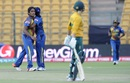 Chamari Atapattu celebrates a wicket her team-mates, South Africa v Sri Lanka, Women's World T20 2016, Group A, Bangalore, March 28, 2016